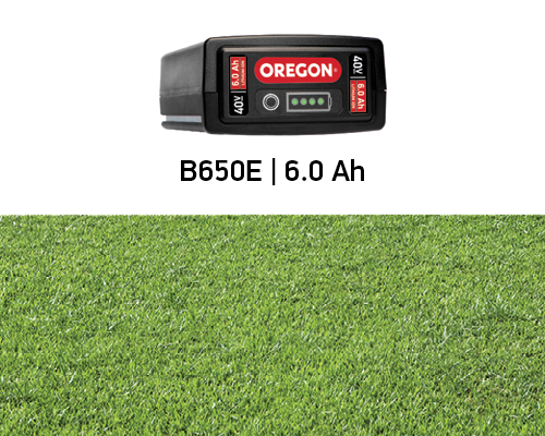 Battery Life for the Oregon 6.0Ah 40 volt Battery on the LM400 mower