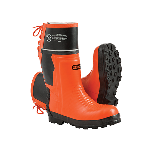 Orange Rubber Forestry Boots