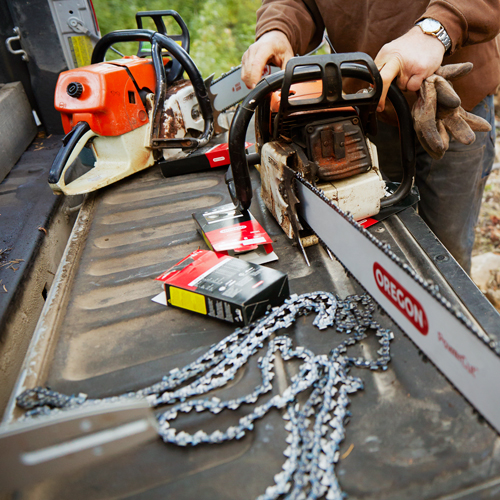 Replacing Chainsaw Chain