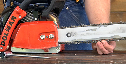 Chain tension oregon products step by step how to tension a chainsaw chain on an oregon intenz guide bar greentooth Images