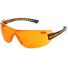 Eyewear, Black w/ Orange Lens