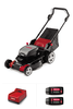 LM400 Lawn Mower with 2 4.0 Ah Batteries and C750 Rapid Charger