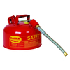"Fuel Can, Metal 2.5 Gal, 12"" Flex Spout"