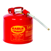 "Fuel Can, Metal 5 Gal, 12"" Flex Spout"