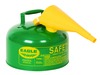 Fuel Can, Combustible, Green, 2 Gal