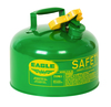 Fuel Can, Combustible, Green, 2.5 Gal