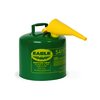 Fuel Can, Combustible, 5 Gal, Green, Meta